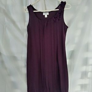 Plum mini dress